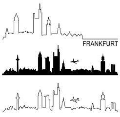 vektor skyline frankfurt am main maps travel places etc pinterest bilder lizenzfreie. Black Bedroom Furniture Sets. Home Design Ideas