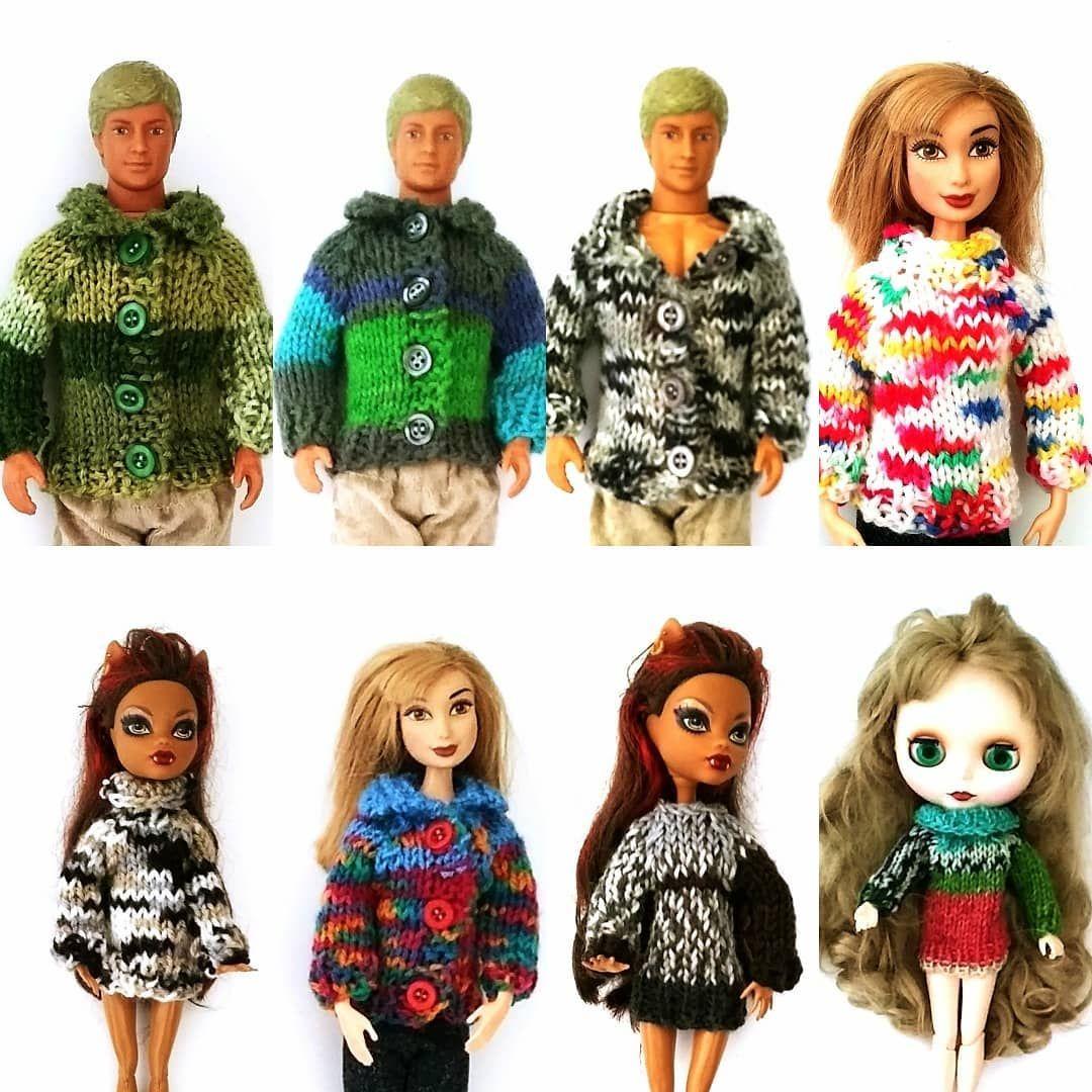 Nowe Cieple Sweterki Dla Lalek Barbie Ken Blythe Monster High I Podobnych Juz Dostepne Na Moim Allegro Pl Nick Nutk Doll Clothes Zelda Characters Character