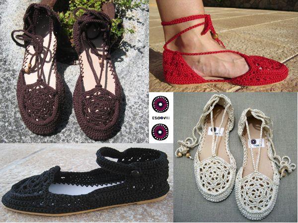 Zapatos en crochet, realizados a mano 100%