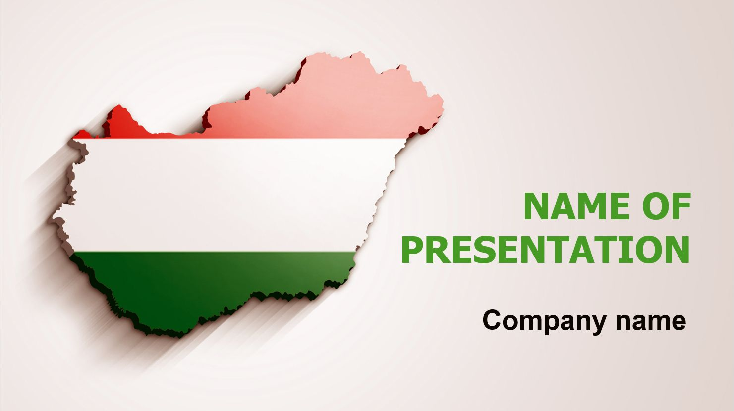 Hungary Flag Powerpoint Template And Theme