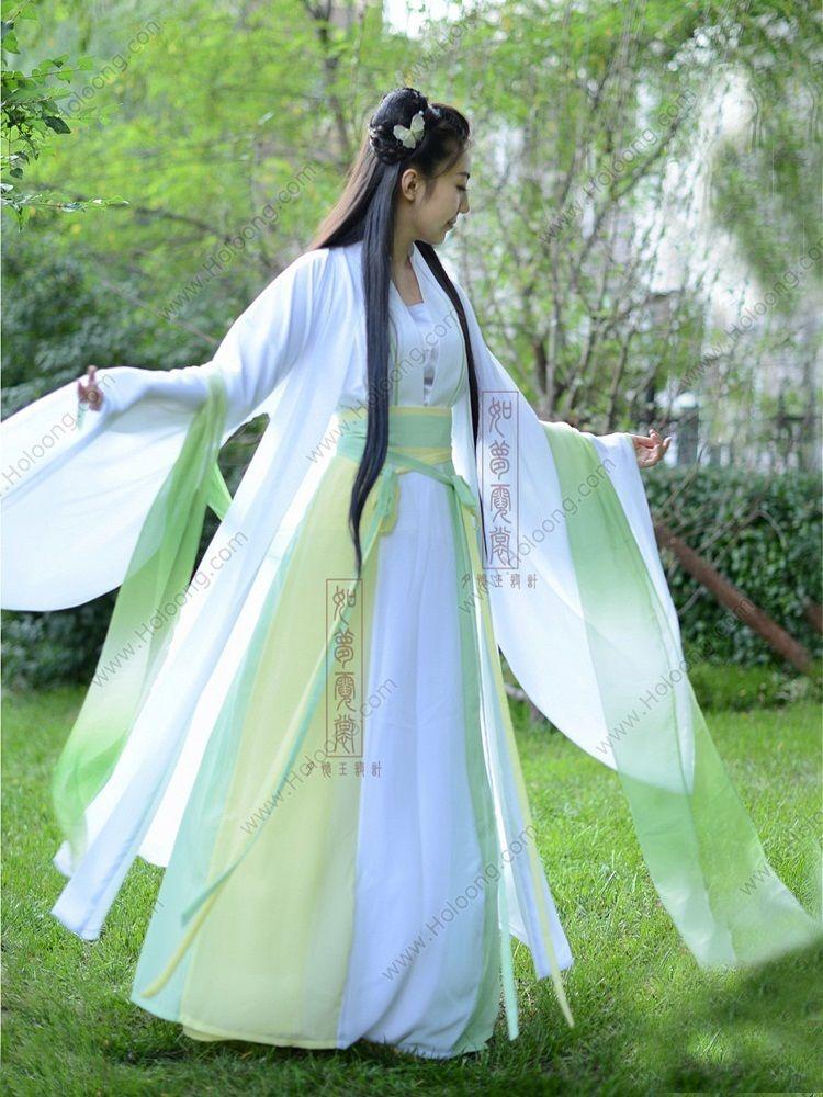 1e48d4483 Women's Chiffon Skirt Ruqun dress Beautiful Fairy Tang Dynasty Hanfu  Clothing