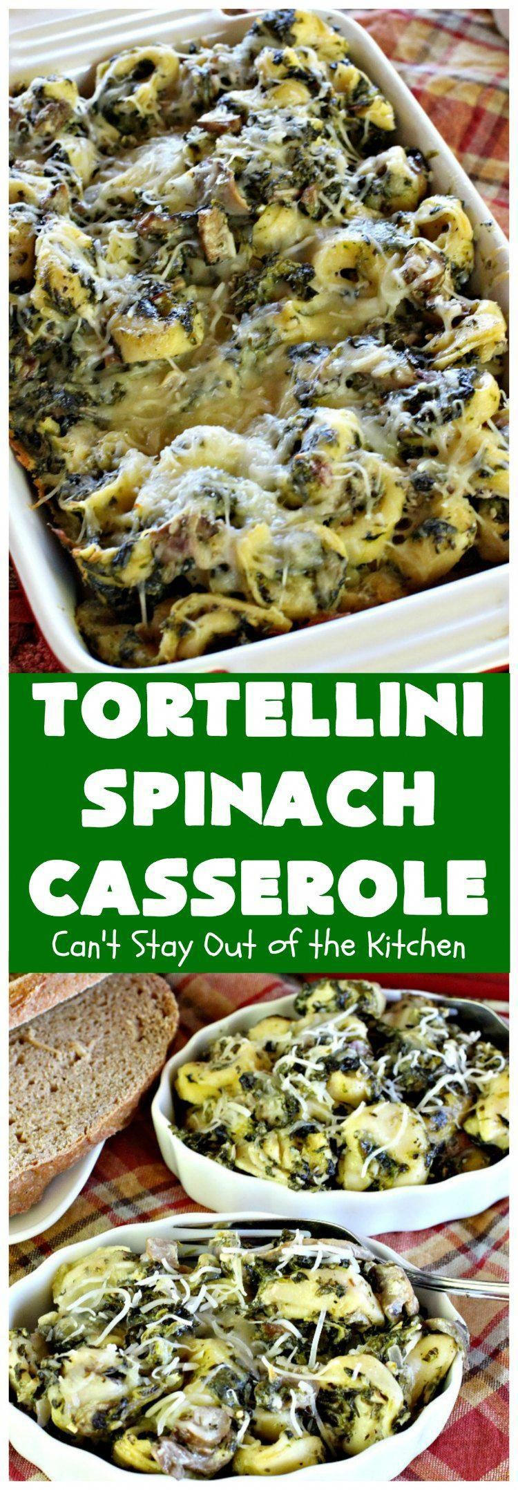 Tortellini Spinach Casserole | Can't Stay Out of the Kitchen | this delicious entree is incredibly mouthwatering. It's filled with several kinds of & cheese It's terrific for as well as company.