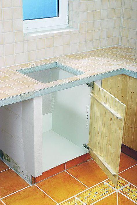 Küchenbau aus Porenbeton | Cucina fai da te, Cucina in ...