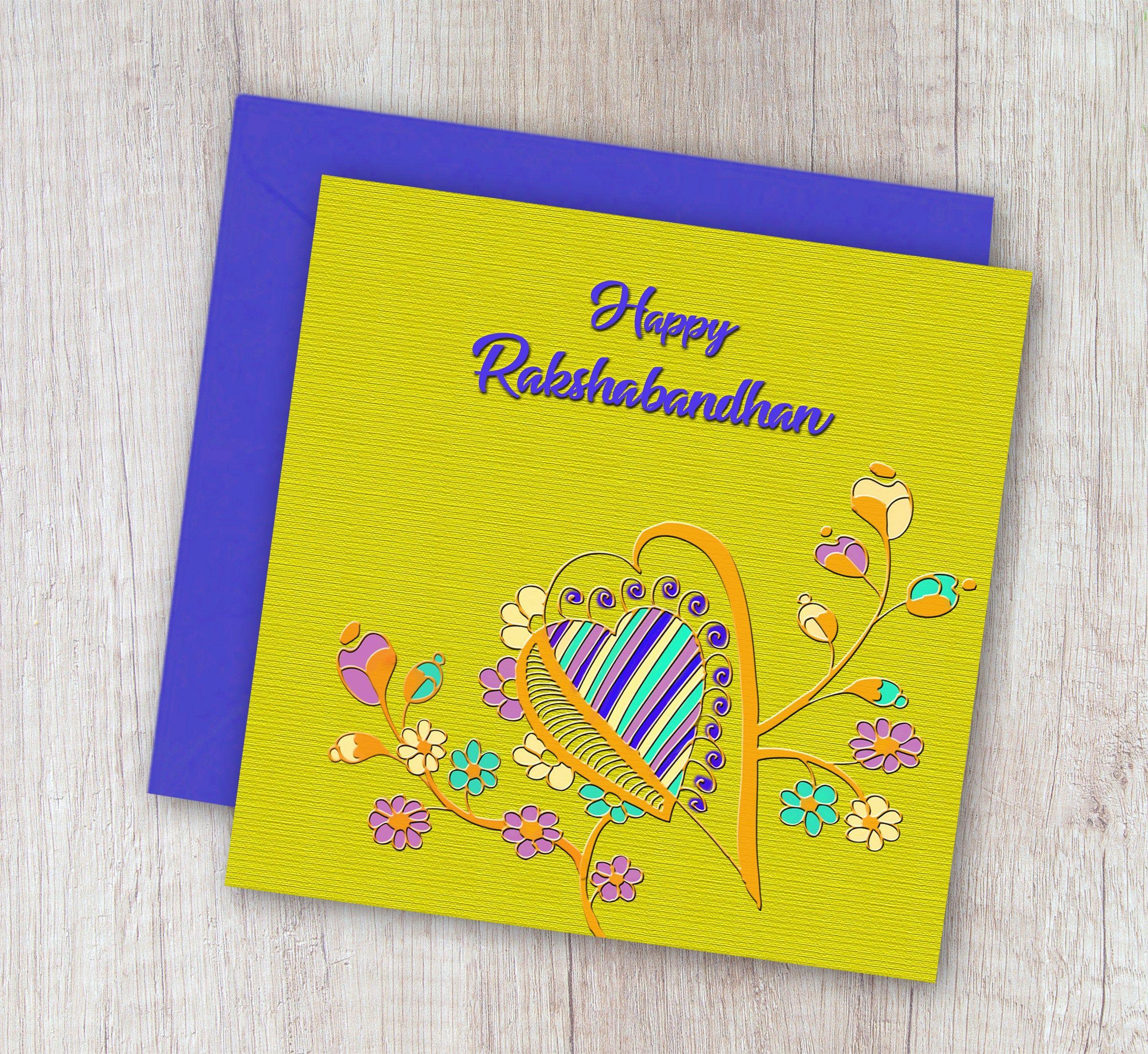 Printable Rakshabandhan Card, Happy Rakshabandhan,For