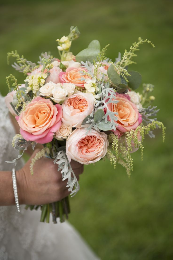 wedding flowers coral eucalyptus - Google Search