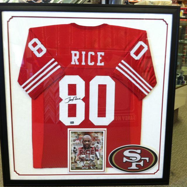 innovative design 3c4f6 116b7 Jerry rice framed jersey! | Creative Jersey Framing | Framed ...