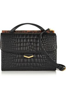 Fendi Demi Jour croc-effect leather shoulder bag | NET-A-PORTER