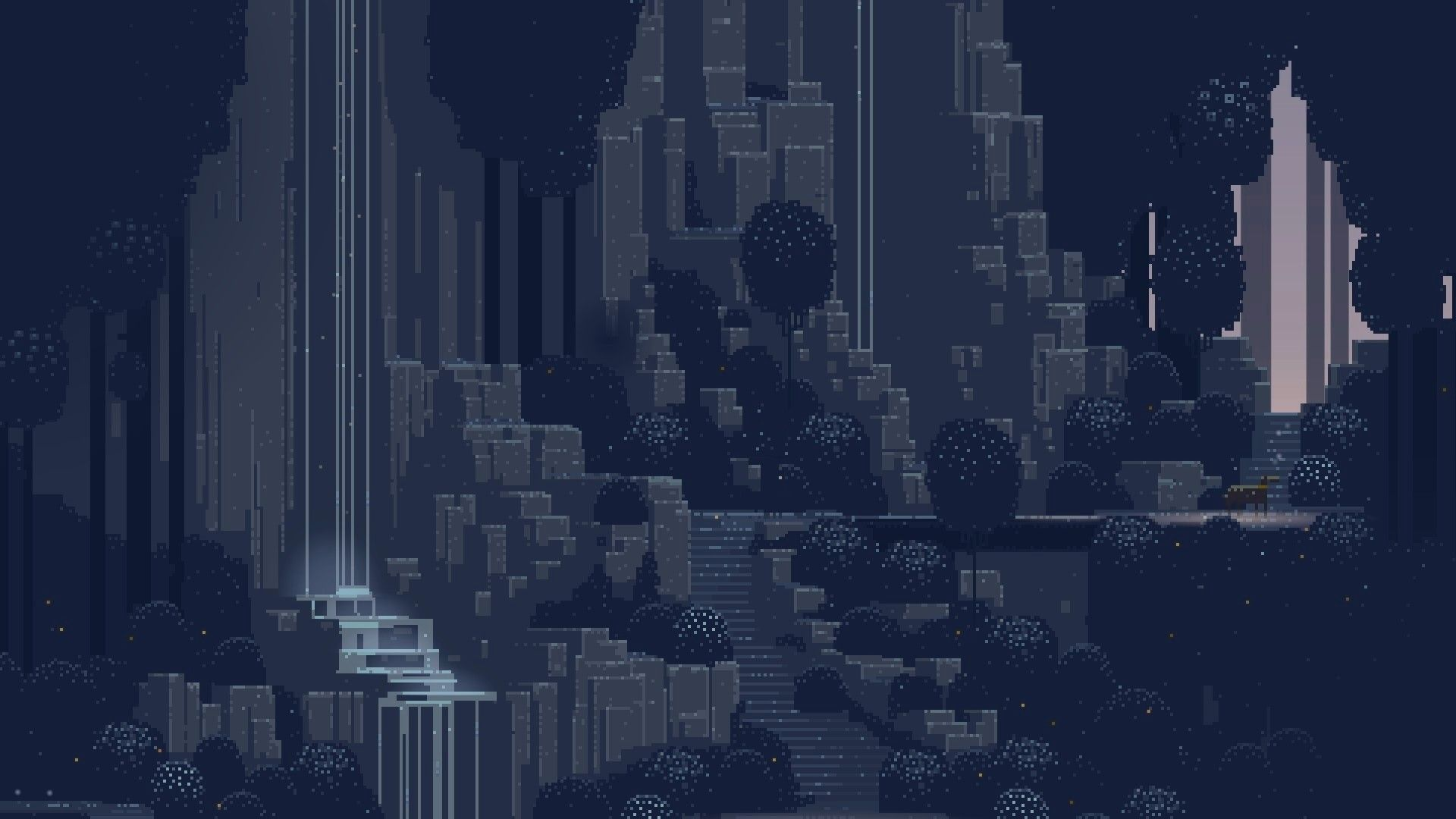 General 1920x1080 Pixel Art Waterfall Superbrothers Sword