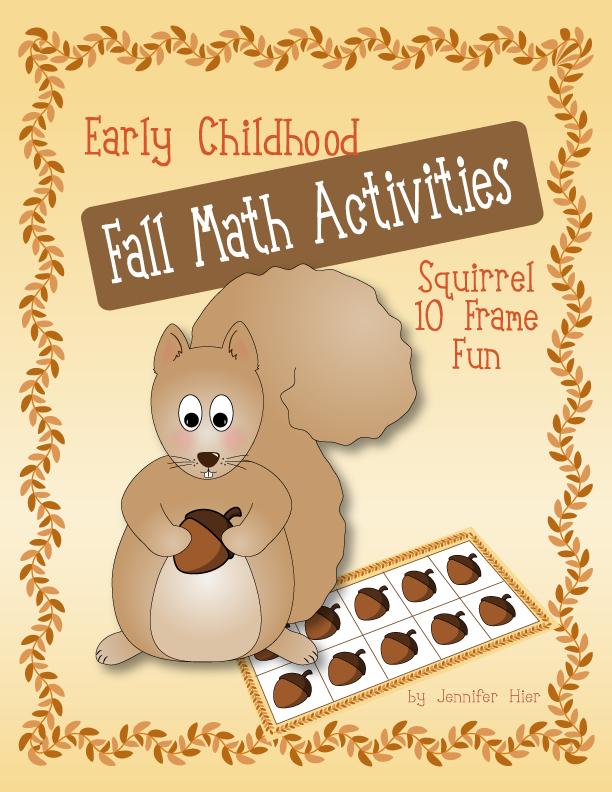Squirrel ten frame fun: Fall Math activities for preschool ...