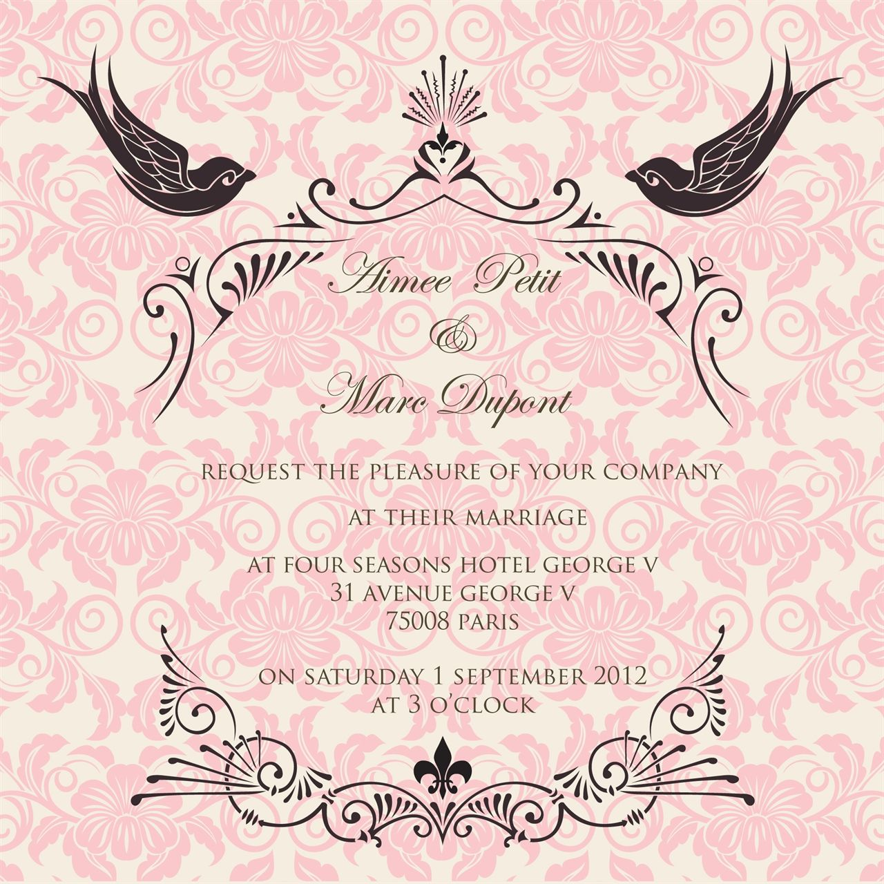 French Fancy wedding invitation by Ananya | Stationary | Pinterest ...