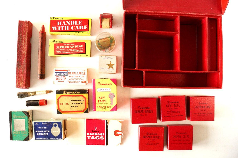 Vintage Dennison Office Supplies Kit In Original Box 20 Full Boxes Of Supplies C 1940s Collectible Scrapbook Dennison Fun Office Decor Vintage