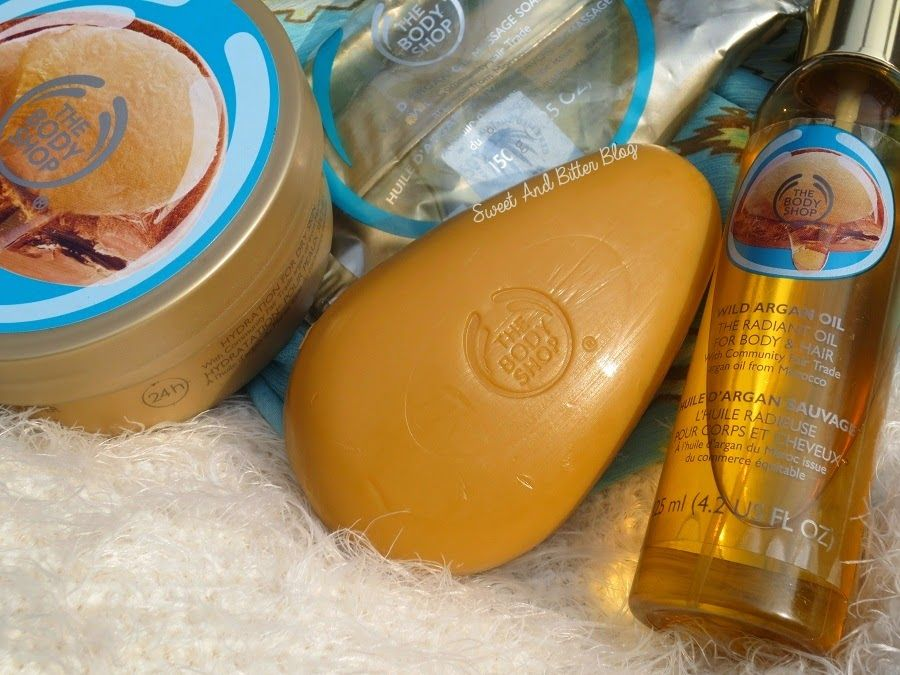 The Body Shop WILD ARGAN OIL Radiant Oil, Massage Soap and Body .