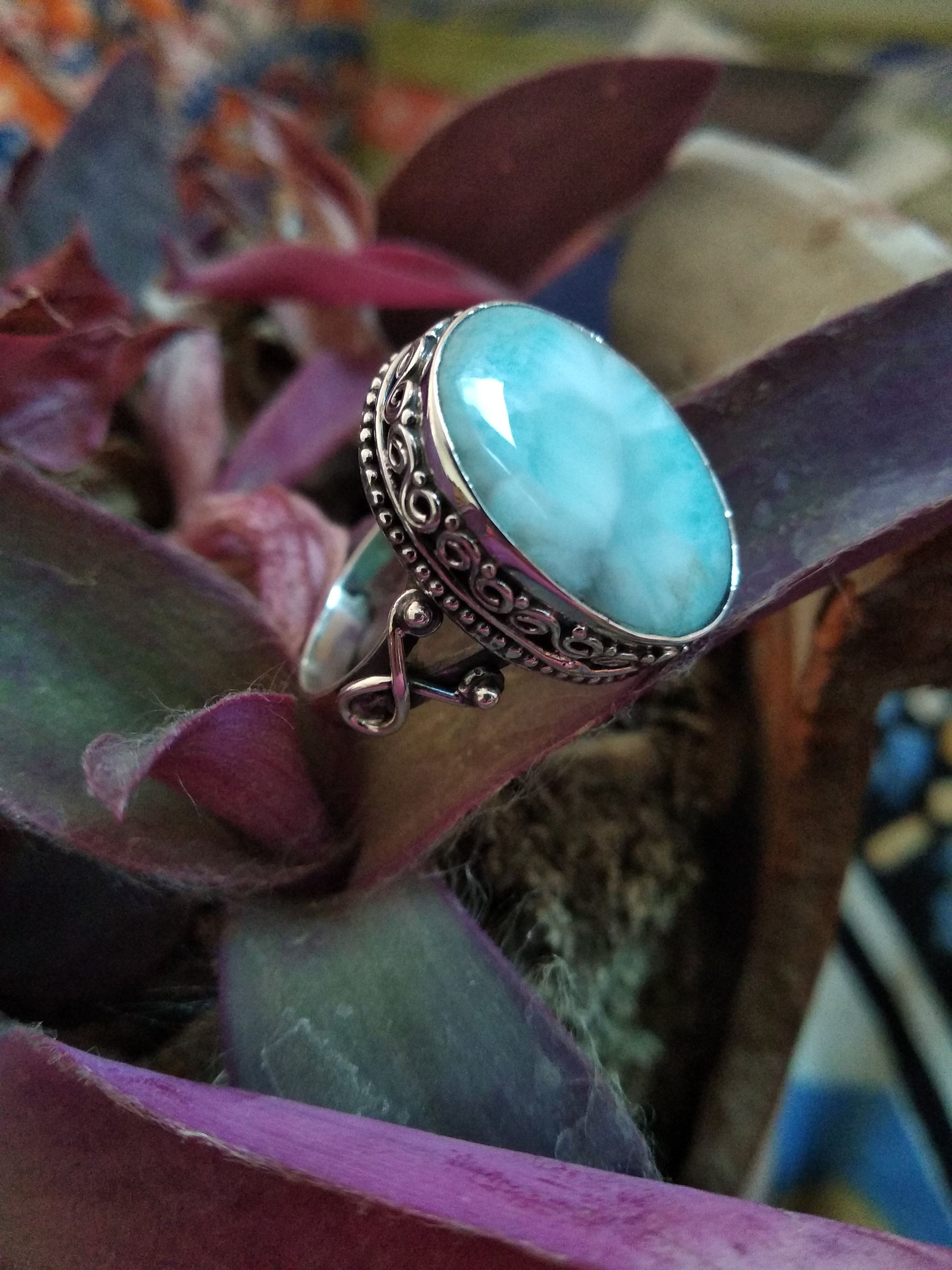925 Sterling silver Turquoise Gemstone Ring Pave Diamond Jewelry,Gift Her GG