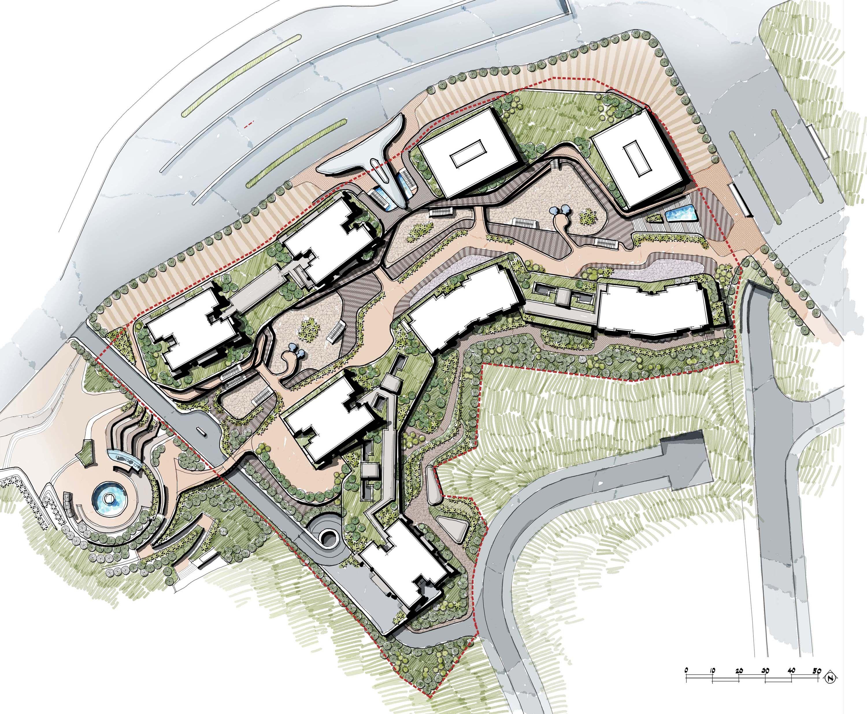 Mix Development On Slope Landscape Design Master Plan Landscape Design Plans Landscape Design