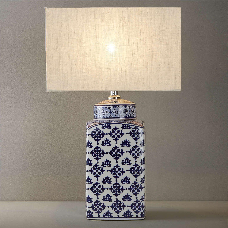 John Lewis Partners Beth Ceramic Lamp Base Blue White H40cm Ceramic Lamp Base Ceramic Lamp Lamp