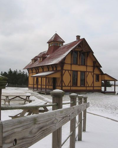 Winter at the Indian River Life Saving Station at Del Seashore State Park