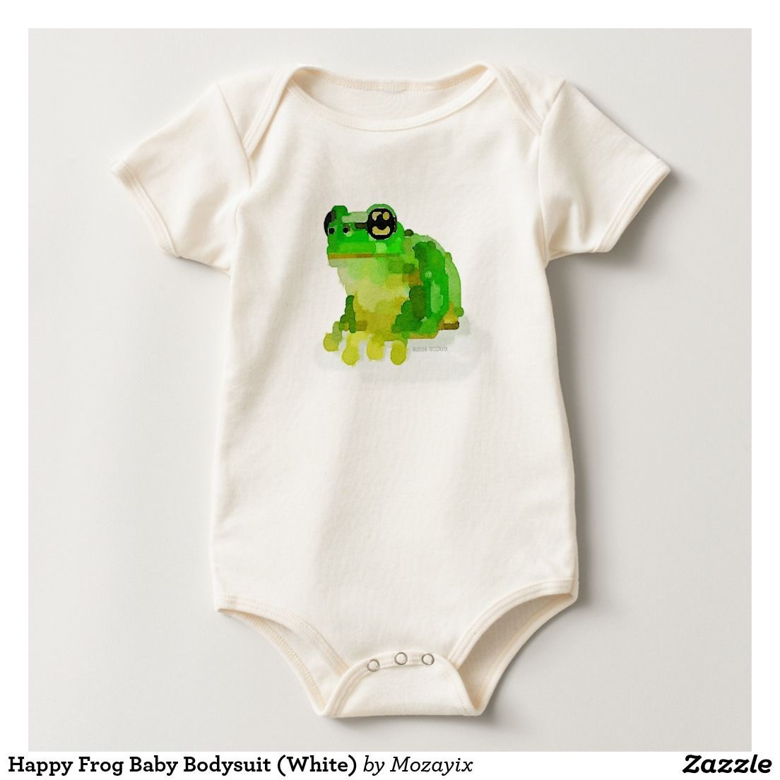 Happy frog baby bodysuit white baby bodysuit frogs and bodysuit babies happy frog watercolor custom baby american apparel organic bodysuit negle Image collections