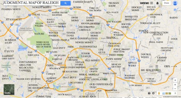 1 This Judgmental Map Of Raleigh Nc North Carolina Map