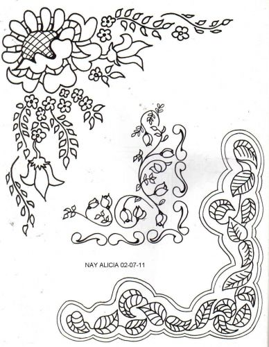 esquinas de flores para colorear - Buscar con Google | metal ...