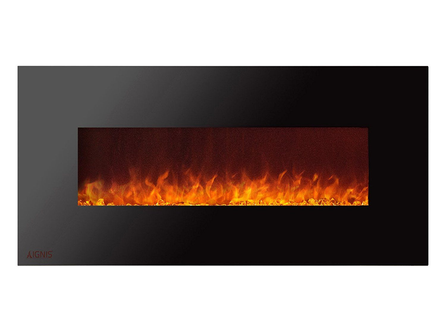 Ignis Royal 50 Inch Wall Mounted Electric Fireplace With Crystals Click Image To R Wall Mount Electric Fireplace Electric Fireplace Wall Electric Fireplace