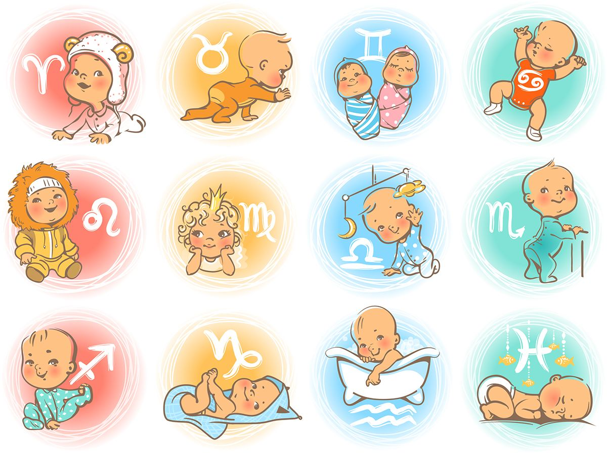 Zodiac babies the magnificent zodiac pinterest zodiac horoscope signs as cartoon characters cute baby boys and girls as astrological symbol baby in diaper crawling sitting smiling sleeping baby buycottarizona Images