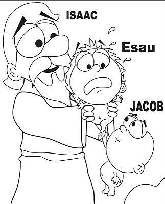 ♥ Maestra Dominical♥: Jacob y Esaú nacimiento | dibujos biblicos ...