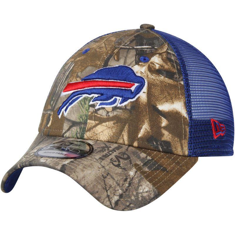 4bd6125f Buffalo Bills New Era Trucker 9FORTY Adjustable Hat – Realtree Camo ...