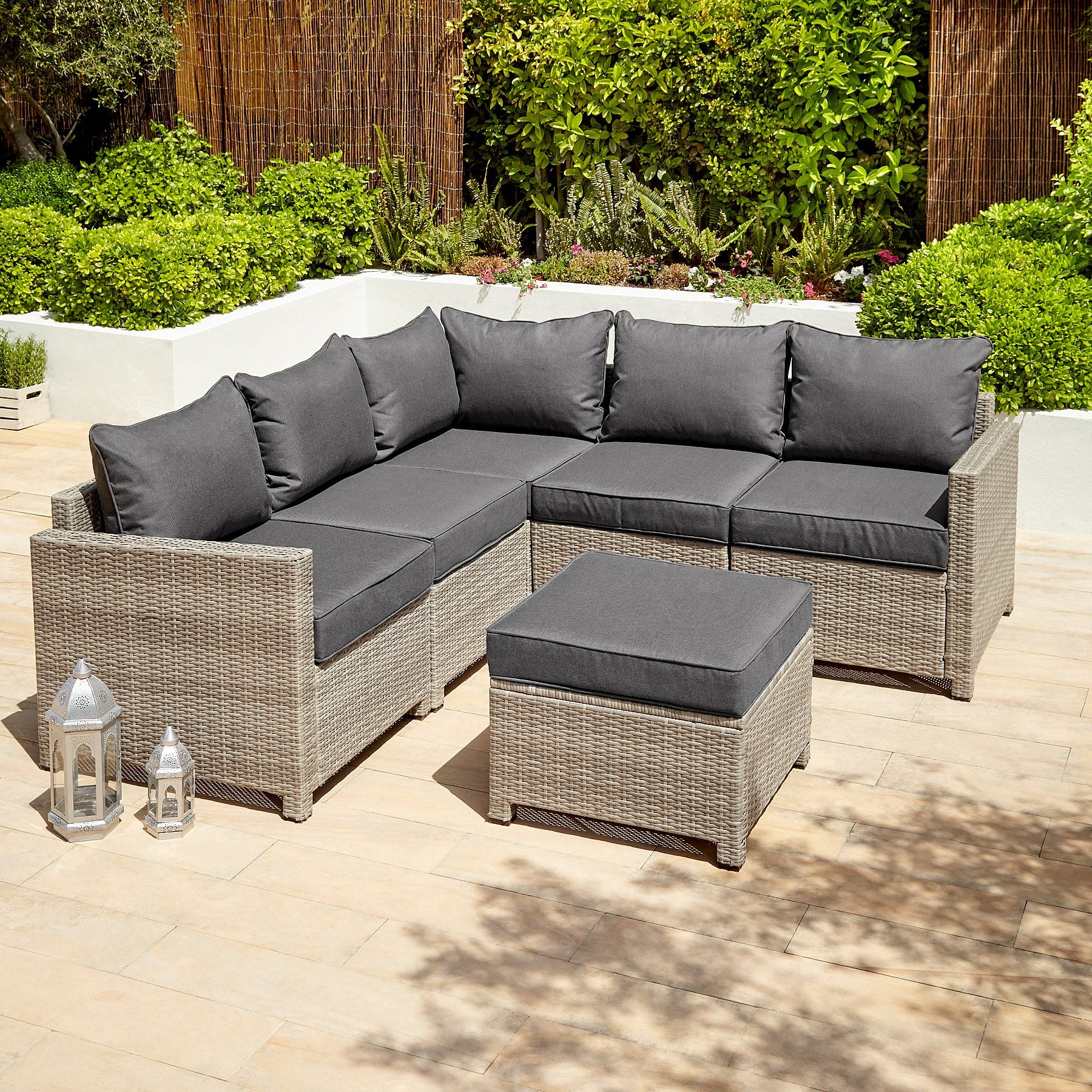 Jakarta Charcoal Corner Group Garden Sofa  Outdoor & Garden