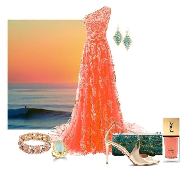 """""""Untitled #2673"""" by anfernee-131 ❤ liked on Polyvore featuring Panacea, Judith Leiber, Aquazzura, Yves Saint Laurent and Design Lab"""