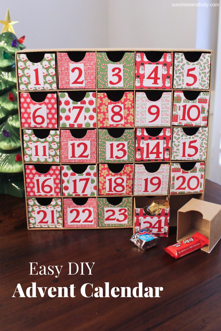 Easy DIY Advent Calendar | Sunshine and Holly Blog #adventcalendarideasdiy