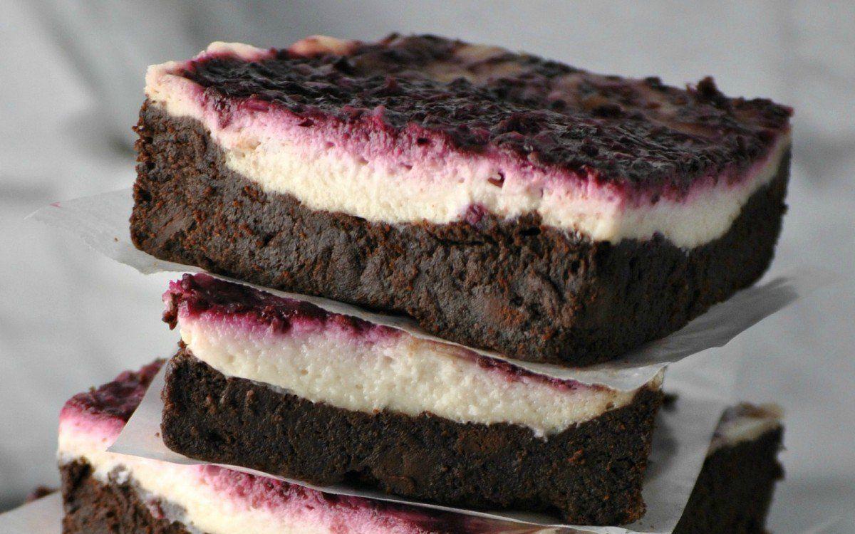 Blackberry Cheesecake Brownies [Vegan] | One Green Planet