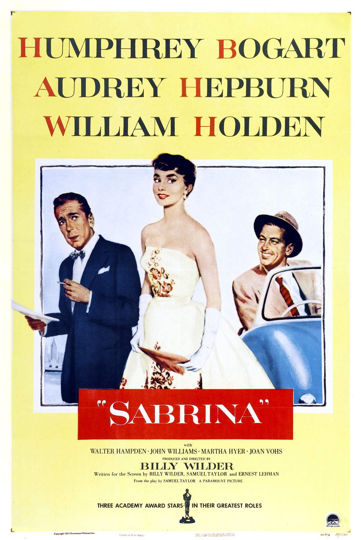 Sabrina (1954), starring Audrey Hepburn, Humphrey Bogart ...