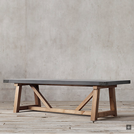 Dining Table Concrete Wood Rectangular Dining Table Wood