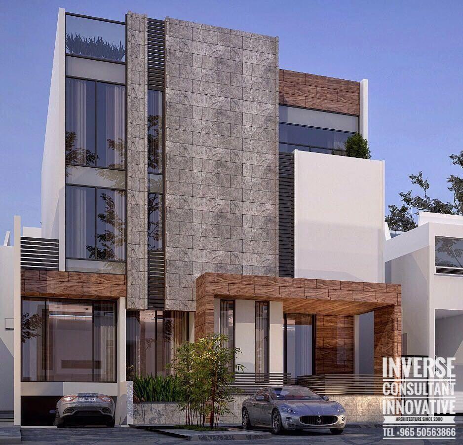 Pin de azucena arriaga en casas fachadas viviendas for Casa moderna hampton hickory