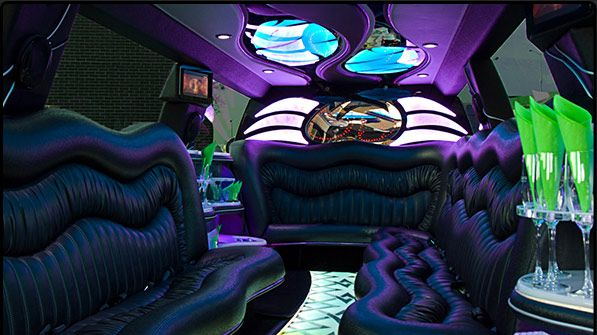 Luxery is a must. This is the interior of one of our limos!
