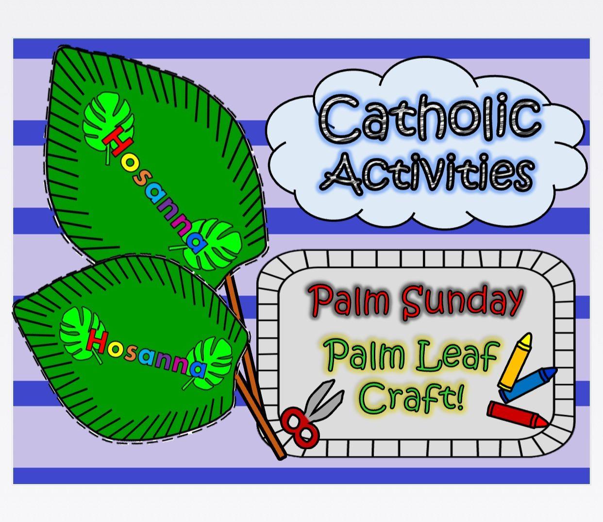 Catholic Activities Palm Sunday Palm Leaf Craft By