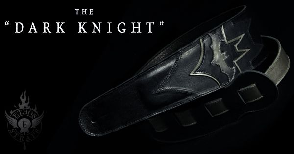 Dark Knight Guitar Strap, not your ordinary Batman Guitar Strap by Ethos Custom Brands