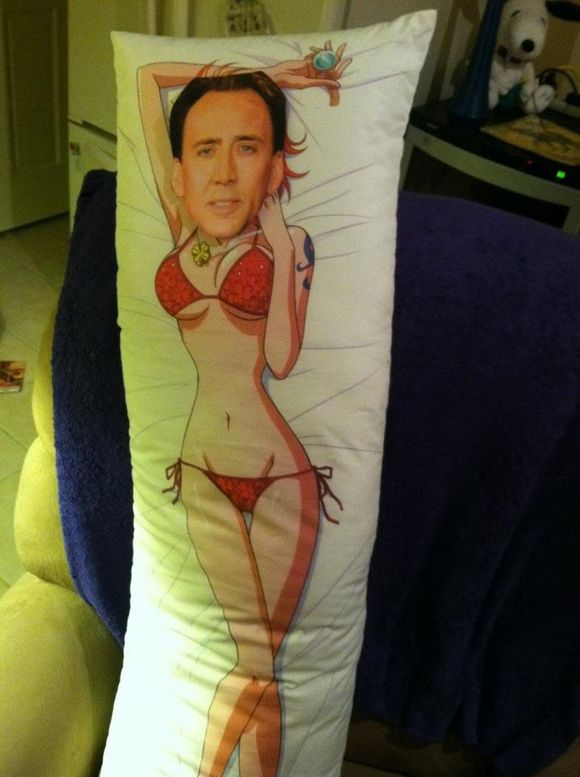 Nick Cage Body Pillow - Google Search