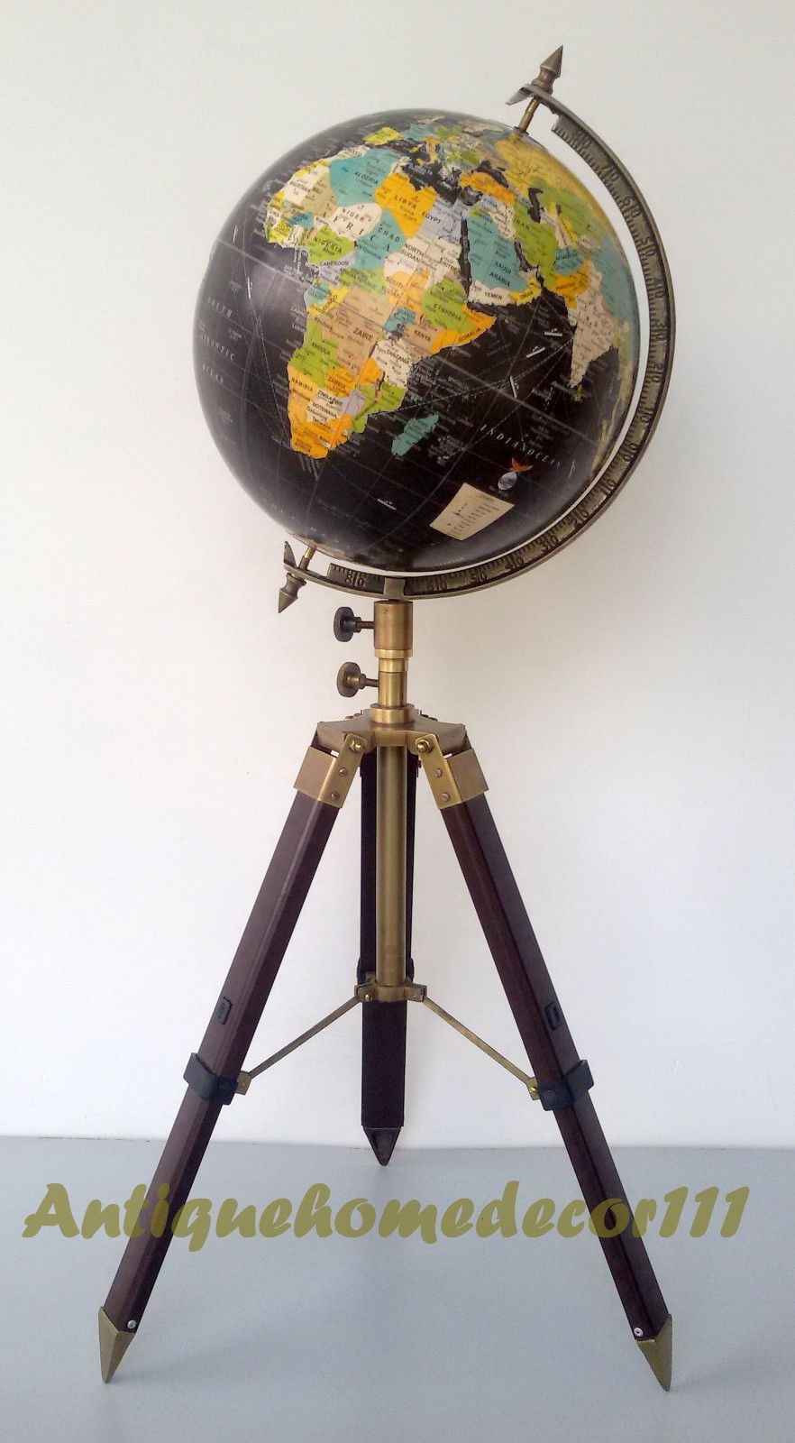 Vintage crams imperial world map globe 12 round w antique finish vintage crams imperial world map globe 12 round w antique finish tripod stand gumiabroncs Images