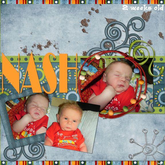 Nash 2 weeks old - Scrapbook.com