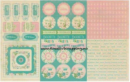 AUTHENTIQUE - CARDSTOCK STICKERS SEA020 - SPRING  Pakke med stickers ord, tekst og figurer fra AUTHENTIQUE.-Elements Repeats, Alphas, Diction Words.  AUTHENTIQUE-Seasons: Spring Sticker Sheet.This package contains one 12x8 inch sheet of stickers. Design: Elements, Repeats, Alphas, and Diction Words.