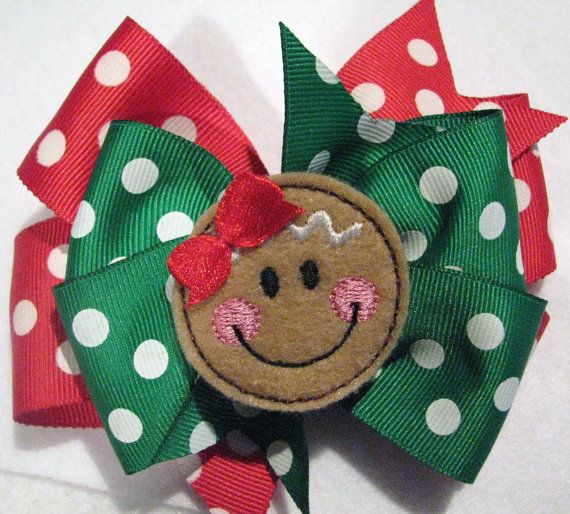 Amy Bradley Designs Gingerbread Houses: Gingerbread Girl Hair Clip By Elliegracedesigns On Etsy