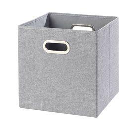 Boite De Rangement Mixxit Grise Flanelle Carre Boite De Rangement Cube Rangement Rangement