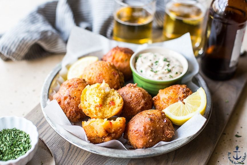 Lobster Hush Puppies with Creole Remoulade These Lobster