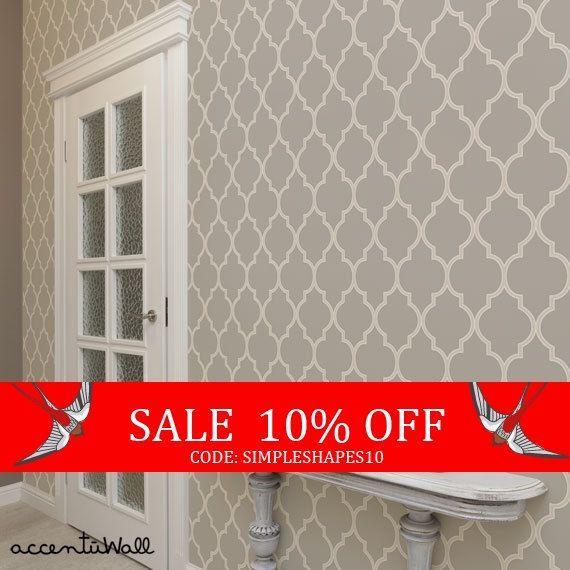 Moroccan Warm Grey Peel Stick Fabric Wallpaper Etsy Warm Grey Fabric Wallpaper Custom Color