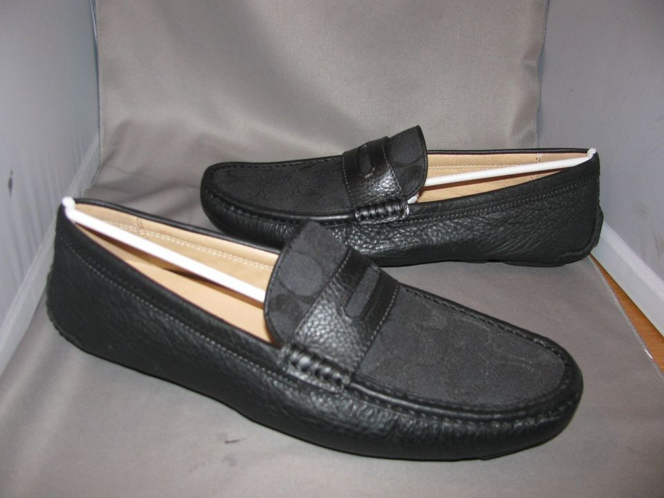 Driving loafers · NEW IN BOX MENS COACH NEAL BLACK ...
