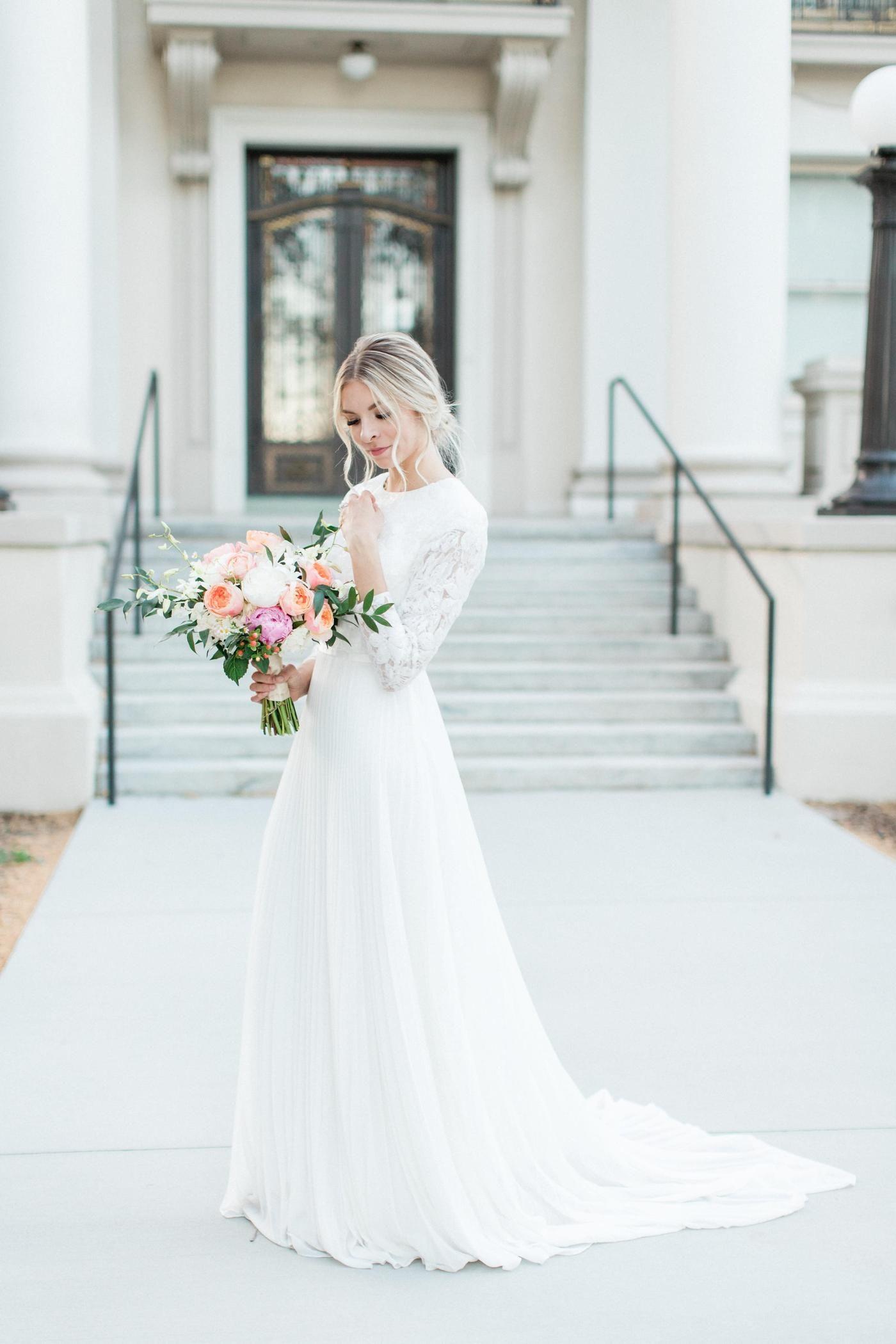 Blythe In Stock Final Sale Winter Wedding Dress Wedding Dresses Wedding Dress Long Sleeve [ 2100 x 1400 Pixel ]