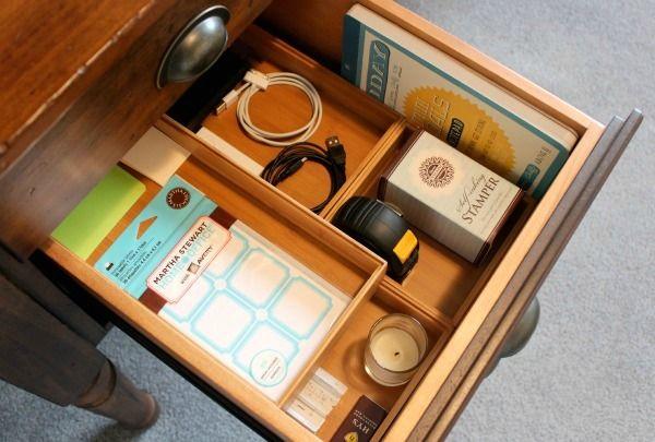 Office Makeover  Organized Desk Drawer