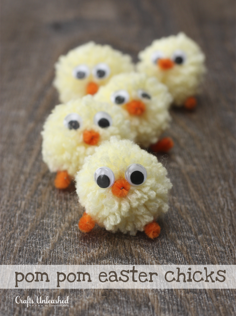 Easter Chicks Pom Pom Yarn Chicks Tutorial Easter Spring