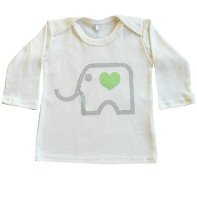 Elephant Long Sleeved Tee - Little Caravan // Boutiquey baby